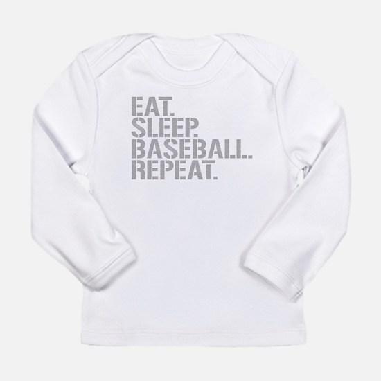 Eat Sleep Baseball Repeat Long Sleeve T-Shirt