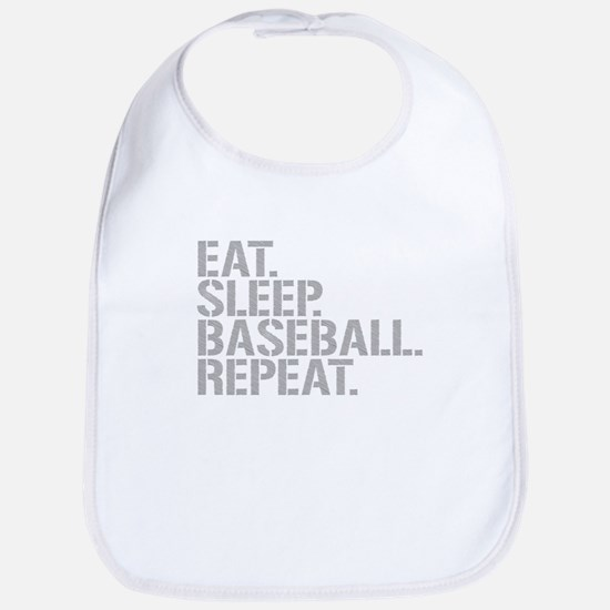 Eat Sleep Baseball Repeat Bib