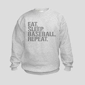 Eat Sleep Baseball Repeat Sweatshirt