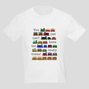 Too Many Trains Kids Light T-Shirt