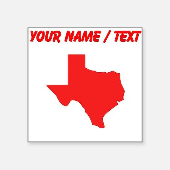 custom red texas silhouette sticker