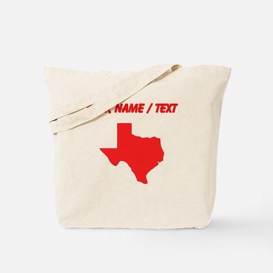 Custom Red Texas Silhouette Tote Bag