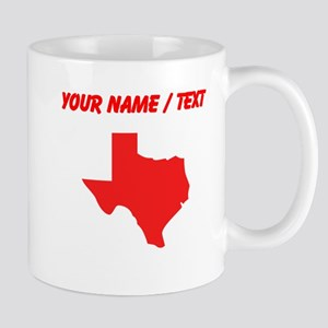 Custom Red Texas Silhouette Mugs