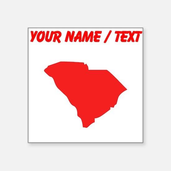 Custom Red South Carolina Silhouette Sticker