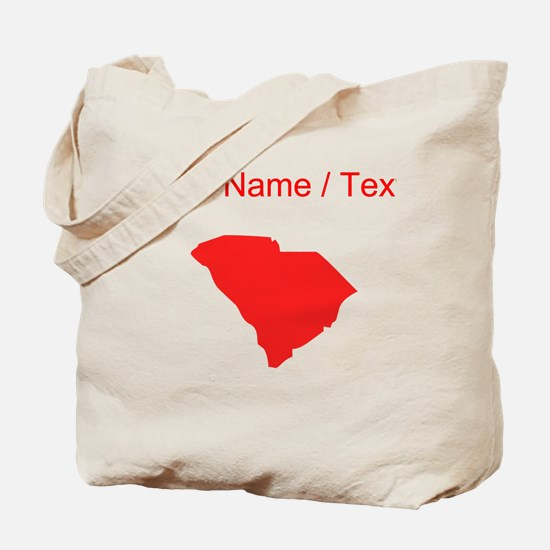 Custom Red South Carolina Silhouette Tote Bag
