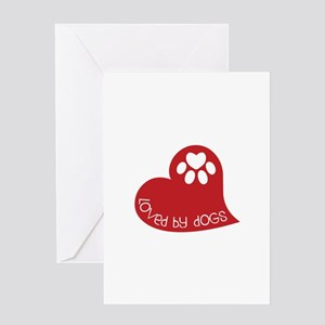 Loved by dogs Greeting Cards
