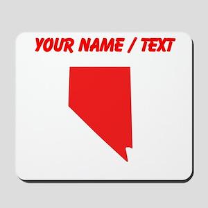 Custom Red Nevada Silhouette Mousepad