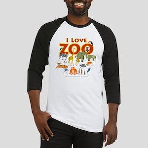 I Love Zoo Baseball Jersey