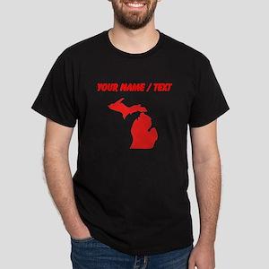 Custom Red Michigan Silhouette T-Shirt
