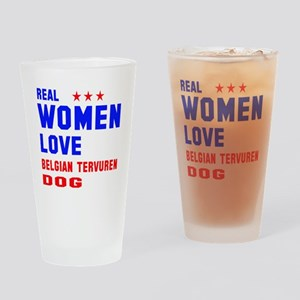 Real Women Love Black & Tan Coonhou Drinking Glass