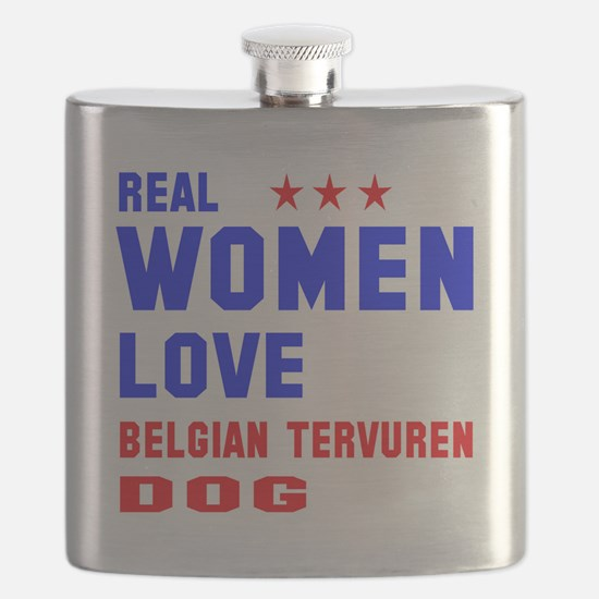 Real Women Love Black & Tan Coonhound Dog Flask