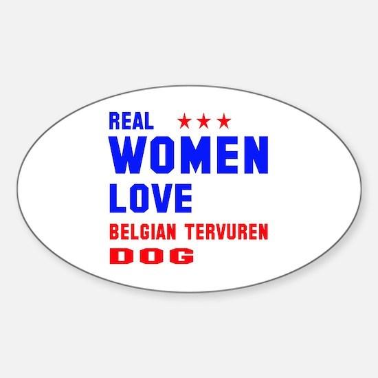 Real Women Love Black & Tan Coonhou Sticker (Oval)