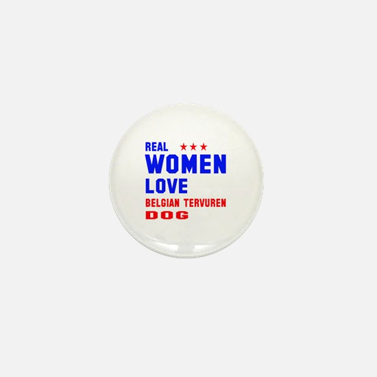 Real Women Love Black & Tan Coonhound Mini Button