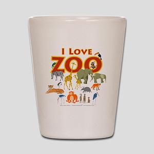 I Love Zoo Shot Glass