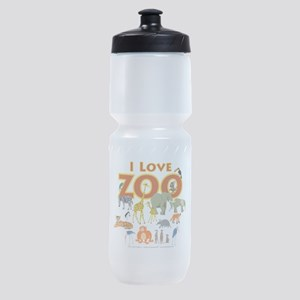 I Love Zoo Sports Bottle
