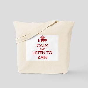 Keep Calm and Listen to Zain Tote Bag