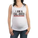 I AM A CAL-BRED Maternity Tank Top