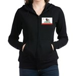 CAL-BRED AND PROUD Women's Zip Hoodie