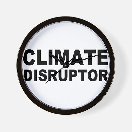 Climate Disruptor Wall Clock