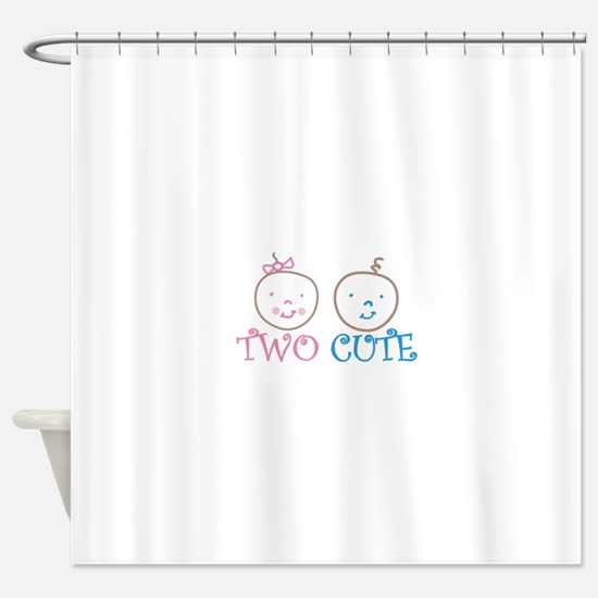 TWO CUTE Shower Curtain
