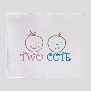 TWO CUTE Throw Blanket