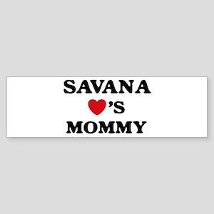 Savana loves mommy Bumper Sticker