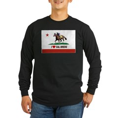I Heart Cal-Breds Logo Long Sleeve T-Shirt