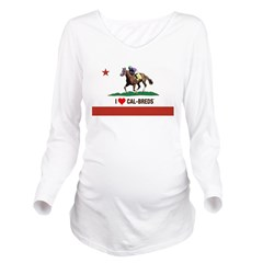 I Heart Cal-Breds Logo Long Sleeve Maternity T-Shi