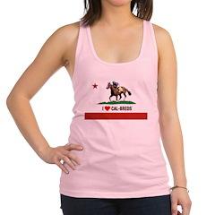 I Heart Cal-Breds Logo Racerback Tank Top