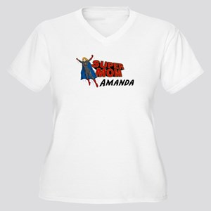 Supermom Amanda Women's Plus Size V-Neck T-Shirt