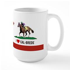 I Heart Cal-Breds Logo Mugs