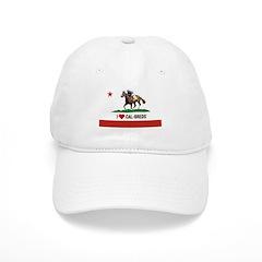 I Heart Cal-Breds Logo Baseball Baseball Cap