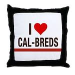 I Heart Cal-Breds no logo Throw Pillow