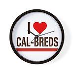 I Heart Cal-Breds no logo Wall Clock