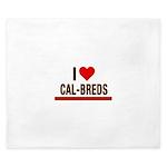 I Heart Cal-Breds no logo King Duvet