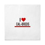 I Heart Cal-Breds no logo Queen Duvet
