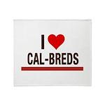 I Heart Cal-Breds no logo Throw Blanket