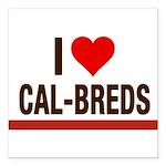 I Heart Cal-Breds no logo Square Car Magnet 3