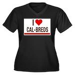 I Heart Cal-Breds no logo Plus Size T-Shirt