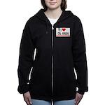 I Heart Cal-Breds no logo Women's Zip Hoodie
