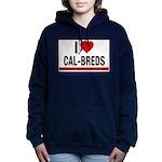 I Heart Cal-Breds no logo Women's Hooded Sweatshir