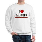 I Heart Cal-Breds no logo Sweatshirt