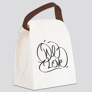 One Love Canvas Lunch Bag