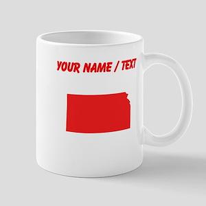 Custom Red Kansas Silhouette Mugs