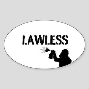 LAWLESS (BIG street graffiti artist) Sticker