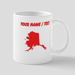 Custom Red Alaska Silhouette Mugs