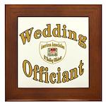 American Assn Wedding Officiants Framed Tile