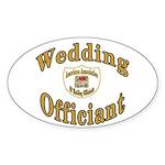 American Assn Wedding Officiants Oval Sticker