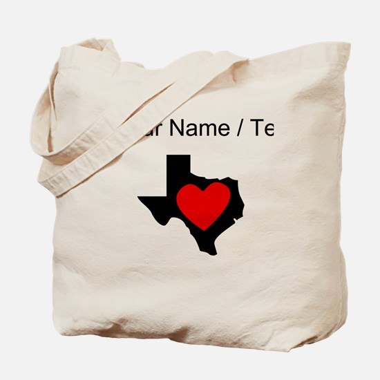 Custom Texas Heart Tote Bag