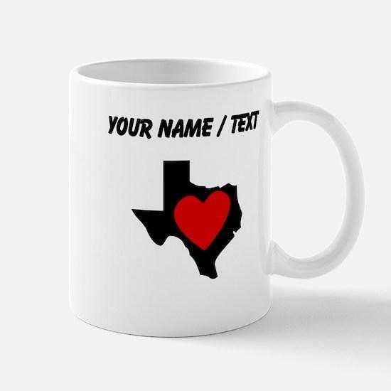 Custom Texas Heart Mugs